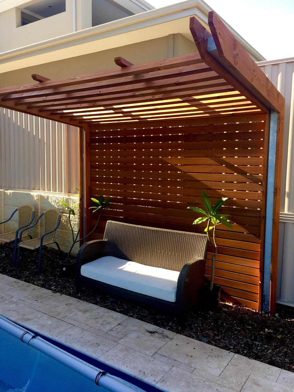 poolside gazebo tight spaces