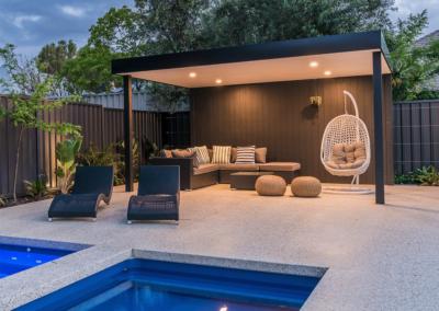 Hamptons Style Skillion roof poolside retreat