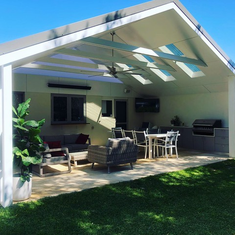 Hamptons Style Gable Roof Patio